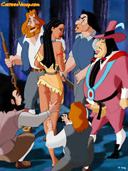 Pocahontas in a gangbang with Governor Ratcliffe and some English colonists