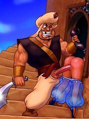 Aladdin's bitch fucking