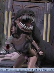 Toon girls having sex with Monsters