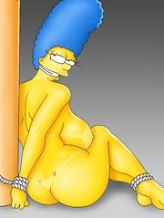 Marge Simpson and Edna Krabappel sport some sexy tan lines