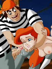 Ariel has fallen into the nets of evil sailormen!